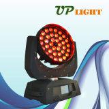 2016熱い販売36PCS 18W Rgbwauv 6in1の洗浄LED移動ヘッド
