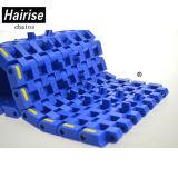Hairise Singelのヒンジの幅の限られた平らなプラスチックモジュラーコンベヤーベルト