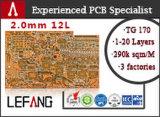 0.6mm doppelseitiger elektronische Bauelemente Schaltkarte-Vorstand