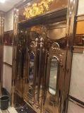 クラブKTVチタニウムの金のステンレス鋼のガラスドアハンドルの木のドアハンドル