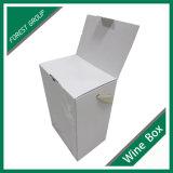 Blanca de papel personalizado 6 Botella vino de la caja con la hoja de plata al por mayor de vino caja de regalo