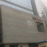 Decoración de la pared de la fachada de la plaza por el panel de aluminio perforado con la capa de PVDF