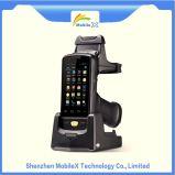 Ordinateur nomade tenu dans la main, scanner de code barres, SYSTÈME D'EXPLOITATION androïde