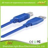 Cabo de impressora de cor azul USB3.0