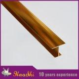 Verdrängte Aluminiumh-Form-Fliese-Rand-Ordnungen in der goldenen Farbe (HSH-200)