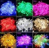 Cer RoHS anerkanntes im Freien wasserdichtes IP44-65 mehrfaches Weihnachtszeichenkette-Hochspannungslicht der Farben-LED