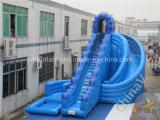 زرقاء عملاق قابل للنفخ ماء منزلق مع [سويمّينغ بوول] لأنّ أطفال