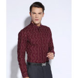 Da luva longa formal da camisa dos homens camisas magros do negócio do vestido do ajuste