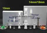 tubo di vetro di fumo del kit del collettore del nettare di 10mm/14mm/18mm