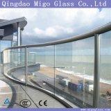 vetro temperato piegato trasparente di 12mm per le reti fisse della scala
