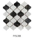 سوداء وفسيفساء بيضاء طبيعيّة رخاميّة ([فسك415])