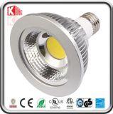 Ce RoHS de la estrella ETL de la energía de los bulbos de la MAZORCA LED del cuello corto LED PAR30