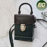Form-Art-populäre verkaufenkasten-Schulter-Beutel-Farben-Zusammenstoß-Handtasche mit verziert für Damen Sy8123