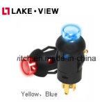 SGS ringsum 8mm Mikro-Druckknopf-hellen Schalter mit geleuchtetem Stellzylinder der Lampen-LED