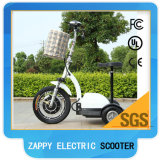 48V 500W 20ah grosses Rad-elektrischer Zappy Roller des Cer-anerkannter Erwachsen-drei mit Korb