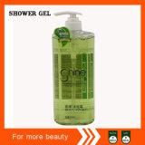 Gel de la ducha que blanquea y de hidratación en botella transparente