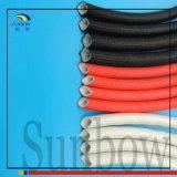 fibra de vidro da borracha de silicone 7kv que Sleeving com fibra de vidro fora da borracha para dentro