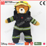 プラシ天の子供のための動物の消防士のテディー・ベアの柔らかいおもちゃ