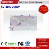 5V 40A 200W Schaltungs-Stromversorgung für LED-Bildschirm