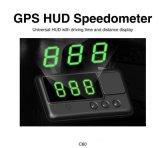 C60 coche Hud GPS cabezal de la pantalla km / h mph exceso de velocidad de alarma del sistema de alarma del parabrisas Ingeniería Velocímetro