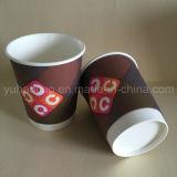 Tazas de café dobles disponibles impresas modificadas para requisitos particulares del papel de empapelar