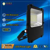 110lm/W와 270 도 광속 각과 옥외 사용을%s 고품질 LED 투광램프 30W IP65