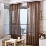 Tissu fin de rideau en voile solide de toile respectueuse de l'environnement de coton (17F0084)