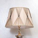 Тело металла декоративной лампы пола гостиницы с тенью ткани