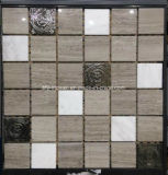 Lujo Estilo Natural de piedra de mármol del mosaico de la construcción de viviendas Material de pared del azulejo (FYSM017)