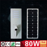 80W tutto in un indicatore luminoso solare Integrated per la via