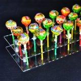 Suporte acrílico da cremalheira de indicador do Lollipop