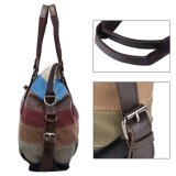 Multi-Color Striped Hobos e Shoulder Women Bag Canvas Totes Bolsas