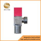 Válvula de ángulo de cobre amarillo de la maneta roja/azul del color