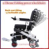 '' портативная облегченная безщеточная складывая кресло-коляска силы 10 с батареей LiFePO4