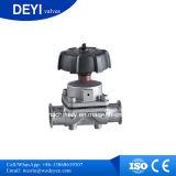 Válvula de diafragma Two-Pass higiênica do aço inoxidável Ss316L