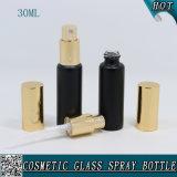 20ml 30ml de Matte Zwarte Fles van de Buis van het Flesje van de Nevel van het Glas met de Spuitbus van het Aluminium voor Parfum