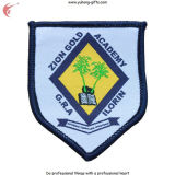 Parte posteriore del distintivo ricamata uniforme scolastico con nastro adesivo magico o Ferro-su (YH-WB031)