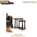 Tavolino da salotto rotondo della mobilia di legno solido dei piedini della Tabella laterale domestica di Sofa&Bed