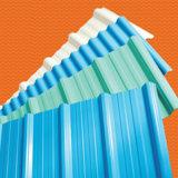 10 ans de garantie de couleur de PC de feuille/plaque ondulées enduites de toiture