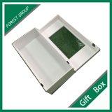 Caixa de jóia branca feita sob encomenda do presente com indicador do PVC