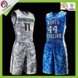 チームのための熱い販売のカスタム可逆昇華バスケットボールのユニフォーム
