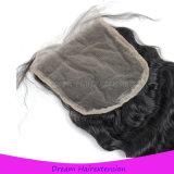 chiusura profonda del merletto dei capelli del Virgin dell'onda di colore naturale superiore 4X4