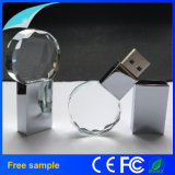 Logo personnalisé Crystal USB Flash Drive avec LED Light