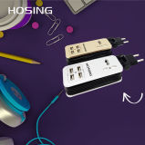 4 carregador universal da parede do curso do soquete das portas do USB 3in1