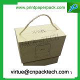 De Doos van de Gift van het Karton van het Parfum van de Fles van de Luxe van de douane met de Druk van het Embleem