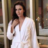 Peignoir de toile normal respirable de salon de robe longue de vêtements de nuit de peignoir de coton de couples d'hommes et de femmes