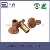 7-6 überzog Kupfer flachen Kopf-halb Röhrenstahlniet