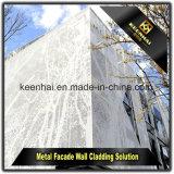 Revêtement perforé en aluminium de mur rideau de coupure décorative extérieure de laser