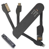 3 en 1 cuchillo cable de datos USB / cable de carga, 30 pin, 8 pin, micro USB