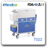 Caldo! ! Carrello d'acciaio di trattamento di ospedale, carrello Emergency per il paziente